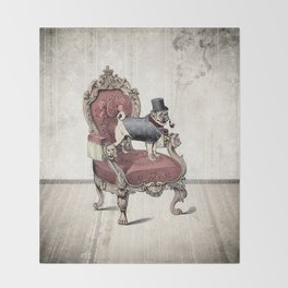 The Imperial Pug Throw Blanket