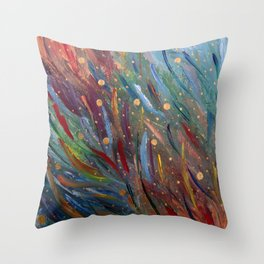 Colours of Happiness Throw Pillow