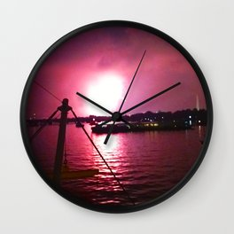 Rocket's Red Glare Wall Clock