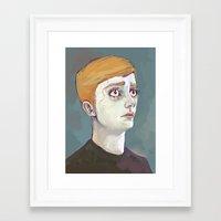 kieren walker Framed Art Prints featuring Kieren Walker by meenie