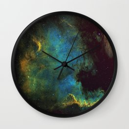North American and Pelican Nebula Wall Clock