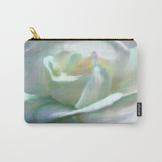 Painterly Iridescent Rose Carry-All Pouch