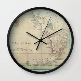 Antique Florida Keys Map Wall Clock