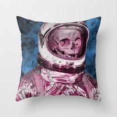 AstroSkull Throw Pillow