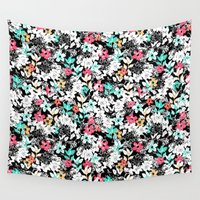 flora Wall Tapestries featuring Flora by Melanie Gow