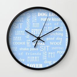 Dog Text Wall Clock