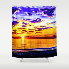 Acidic Sunrise - Gagliano Photography Shower Curtain