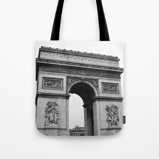 Arc de Triomphe Noir Tote Bag