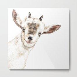 Oh My Sneaky Goat Metal Print