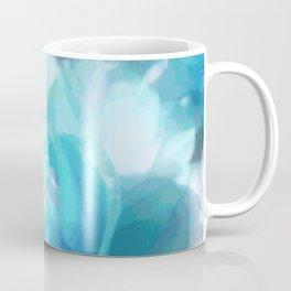 Turquoise abstracted tulips Coffee Mug
