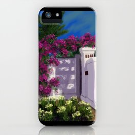 Santa Barbara Bougainvillea DP150606a iPhone Case