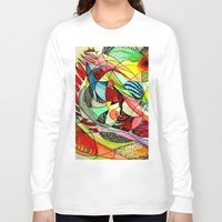 karma Long Sleeve T-shirts featuring karma by sylvie demers