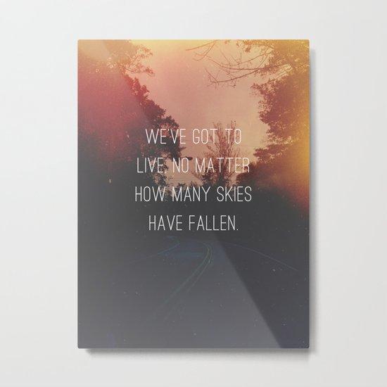 Fallen Skies Metal Print