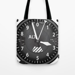 Altimeter Flight Instruments Tote Bag