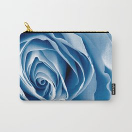 Blue Rose Macro Carry-All Pouch