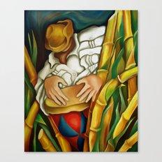 Rumba among sugar canes Canvas Print