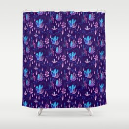 Neon Cacti Shower Curtain