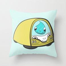 Tiny Bus Throw Pillow