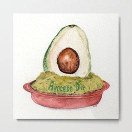 Avocado Dip Metal Print