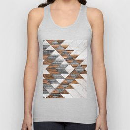 Urban Tribal Pattern No.12 - Aztec - Wood Unisex Tank Top