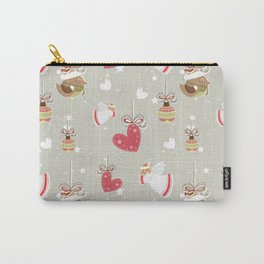Christmas Elements Design Pattern 2 Carry-All Pouch