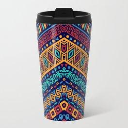 Colorful Boho Zig Zag Gypsy Travel Mug