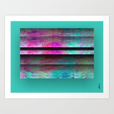 Turquoise Color Blinds Art Print