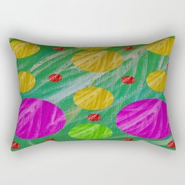 Dots and acrylpaint pattern Rectangular Pillow