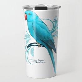Bue Indian Ringneck Parrot Travel Mug