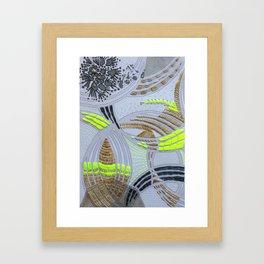 Oh! Embroidered 1 Framed Art Print