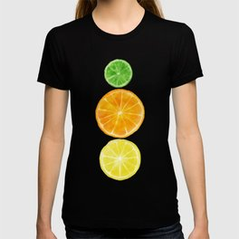 Squeeze the day! Citrus art featuring oranges, lemons, and limes T-shirt