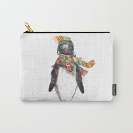 Penguin in a scarf (male) Carry-All Pouch