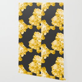 Yellow Flowers On A Dark Background #decor #society #homedecor Wallpaper