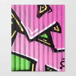 Super Pink Street Art Canvas Print