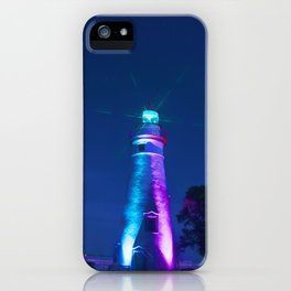 Marblehead Lighthouse Night iPhone Case