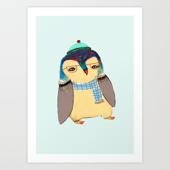 Cute Penguin  Art Print