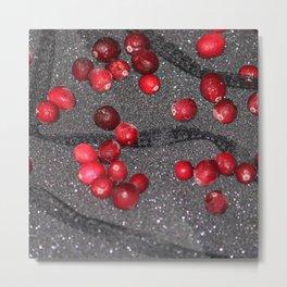 Sparkle Lace Cranberries Metal Print