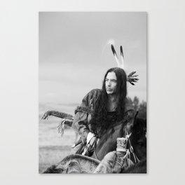 Lakota Warrior, Native American South Dakota Canvas Print