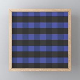 Blue_Black Square Framed Mini Art Print