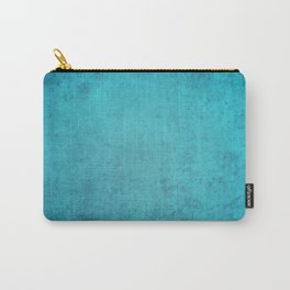 blue wall vintage  background,  stone texture, retro style Carry-All Pouch