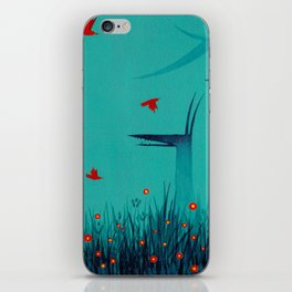 ghosts and birds iPhone Skin