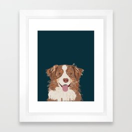 Hollis - Australian Shepherd gifts for dog owners pet lovers dog people gifts for dog person Framed Art Print
