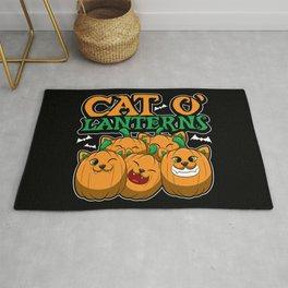 Cat O'Lanterns - Kitten Pumpkins - Feline Costume Rug