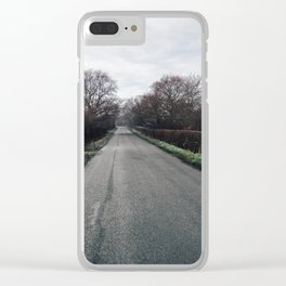 derbyshire country lane Clear iPhone Case