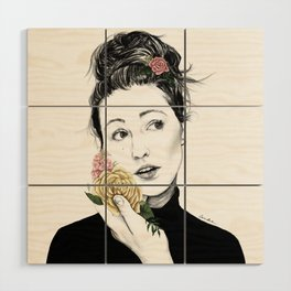Delicate rose - floral portrait 1 of 3 Wood Wall Art