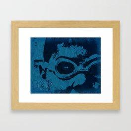 Blue Speedo Framed Art Print