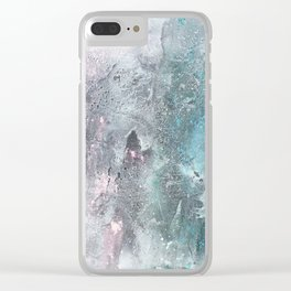 Split Worlds Clear iPhone Case