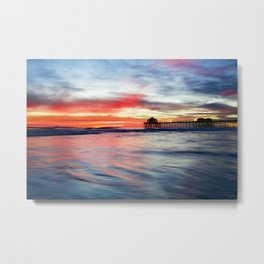 HB Sunset 1-30-18 Metal Print
