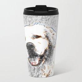 Snow Dog Metal Travel Mug