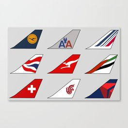 Tail Fins Collection Canvas Print